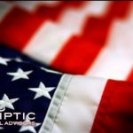 American flag and the Ecliptic Financial logo